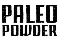 """stylized """"paleo powder"""" text"""